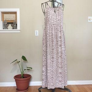 Cynthia Rowley snake print maxi dress